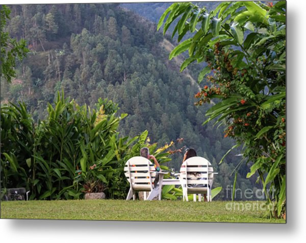 Vacation On Strawberry Hill Metal Print