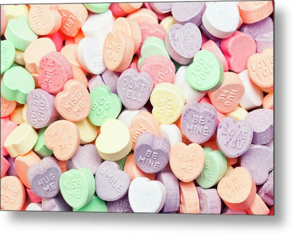 Valentines Candies With Message Metal Print by Kativ