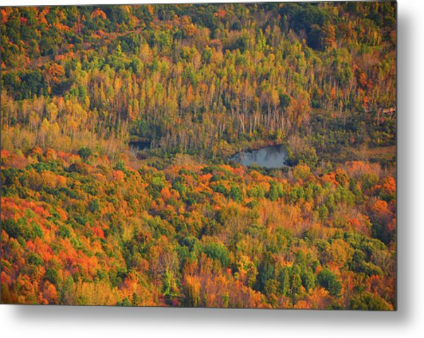 Metal Print featuring the photograph Valley From The Summit Of Mount Greylock by Raymond Salani III