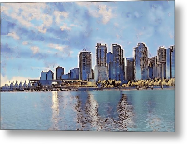 Vancouver From English Bay Metal Print by Keith Cassatt