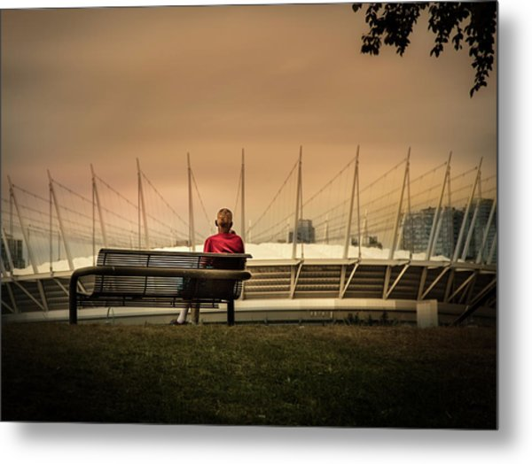 Vancouver Stadium In A Golden Hour Metal Print