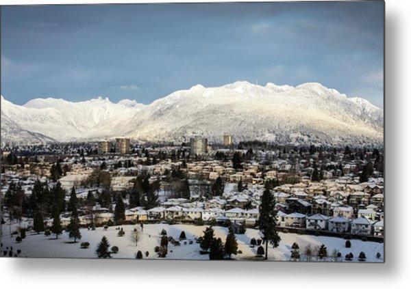 Vancouver Winterscape Metal Print