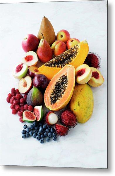 Variety Of Fresh Fruits Metal Print