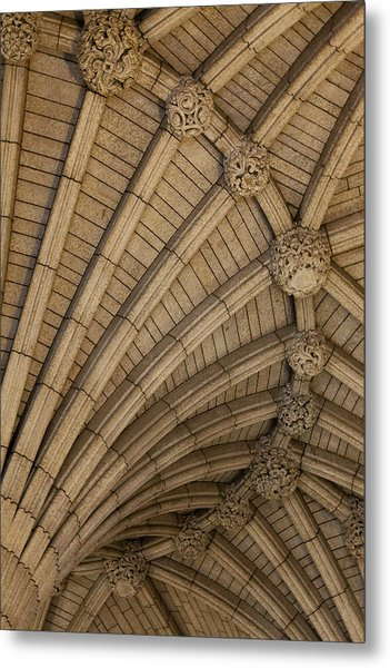 Vaulted Ceiling In The Centre Block In Metal Print