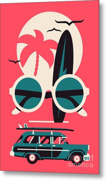 Vector Modern Flat Wall Art Poster Metal Print by Mascha Tace