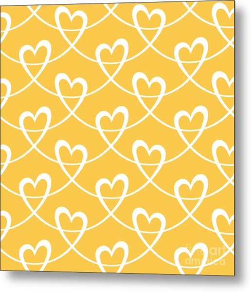 Vector Seamless Pattern With Stylized Metal Print