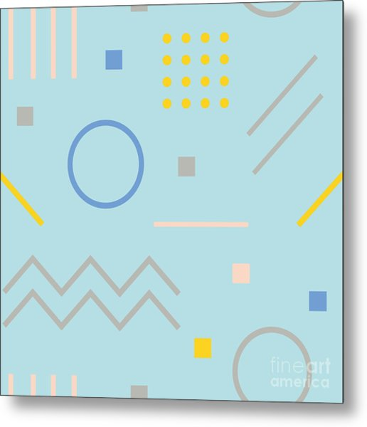 Vector Texture Of Geometric Colorful Metal Print