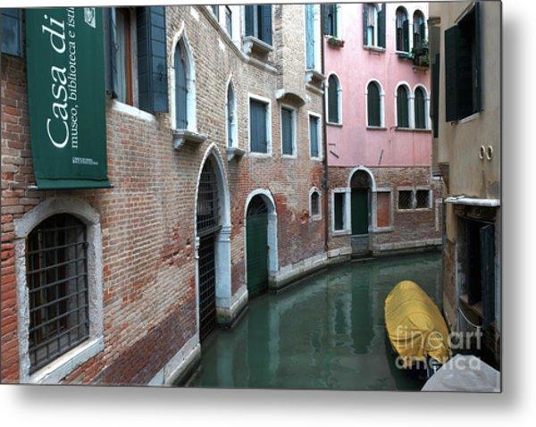 Venetian Streets -canals. Carlo Galdoni Museum Metal Print