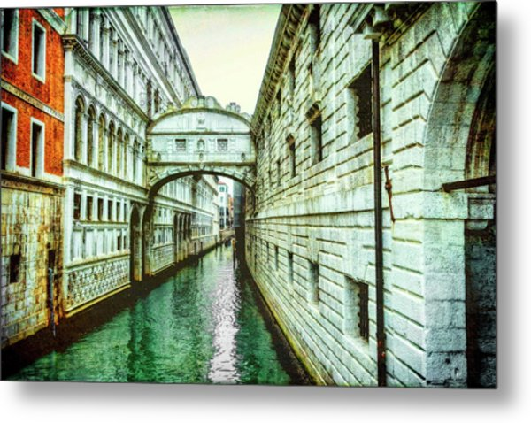 Venice Bridge Of Sighs Metal Print