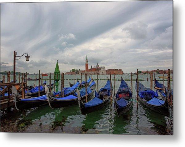 Venice Gondola's Grand Canal Metal Print