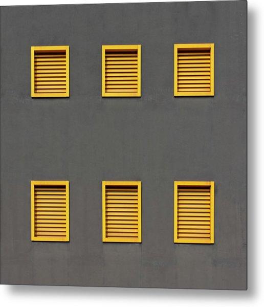 Verona Windows 3 Metal Print