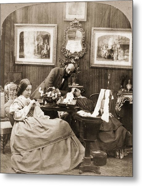 Victorian Life Metal Print by Otto Herschan Collection