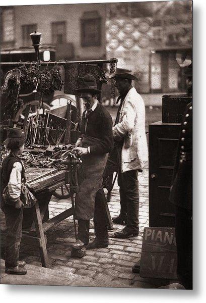 Victorian Locksmith Metal Print by John Thomson