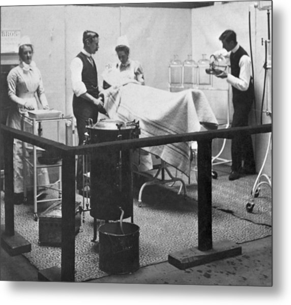 Victorian Surgery Metal Print by Hulton Archive