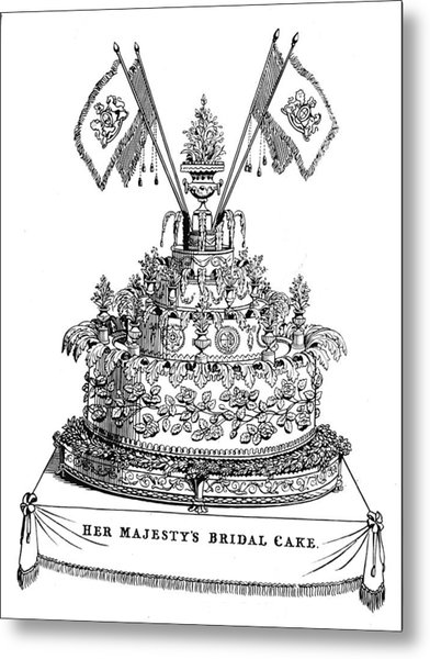 Victorias Wedding Cake Metal Print by Hulton Archive