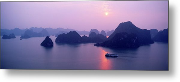 Vietnam, Gulf Of Tonkin, Halong Bay Metal Print by Andrea Pistolesi