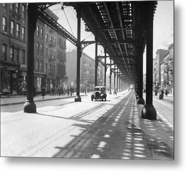 View From 38th St. And Second Ave Metal Print by New York Daily News Archive