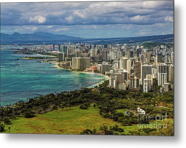 View From Diamond Head Metal Print