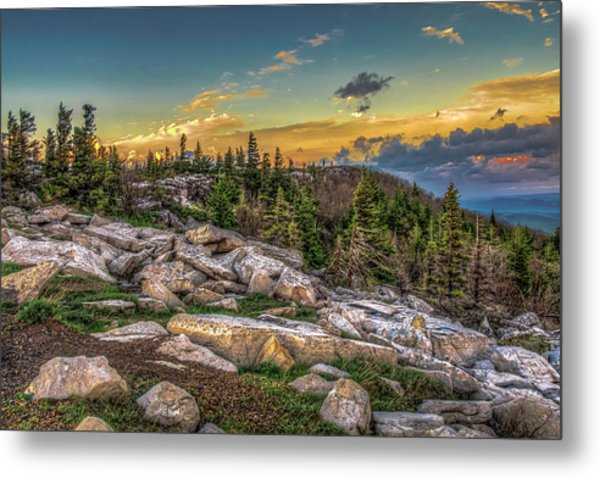 Metal Print featuring the photograph View From Dolly Sods 4714 by Donald Brown