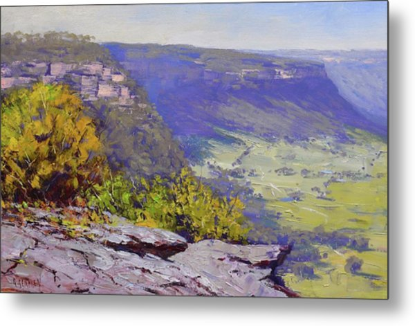 View From Hassons Wall Lithgow Metal Print