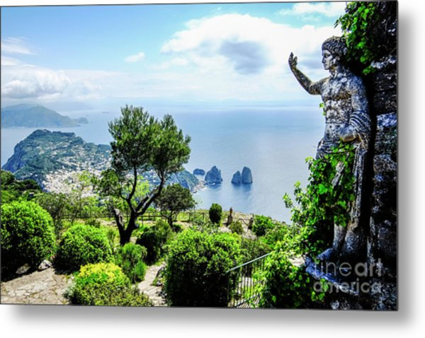 View From Monte Solaro To The Metal Print