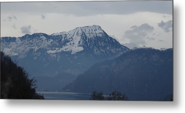Metal Print featuring the photograph View From My Art Studio - Stanserhorn - March 2018 by Manuel Sueess