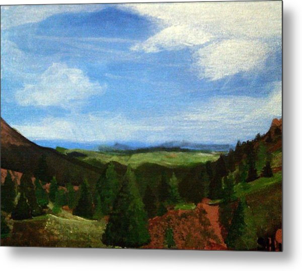 Metal Print featuring the painting View From Pikes Peak by Samantha Galactica