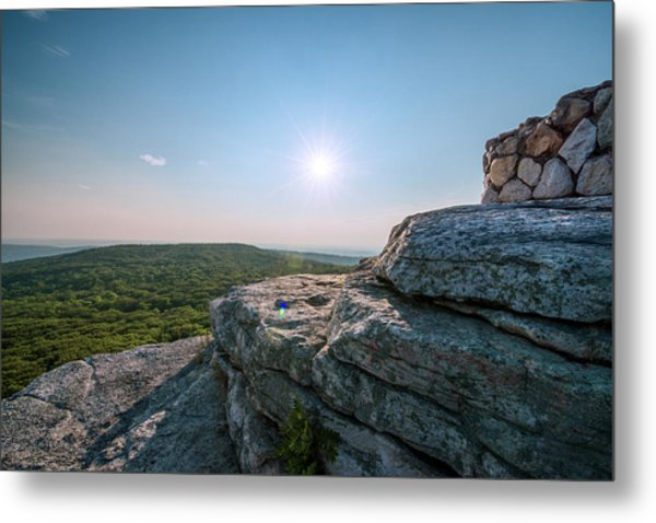 View From Sams Point Preserve In Metal Print by Boogich