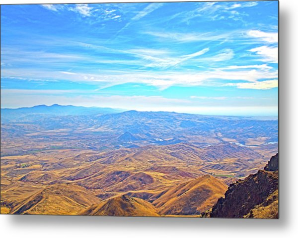Metal Print featuring the photograph View From Squaw Butte, Id by Dart and Suze Humeston