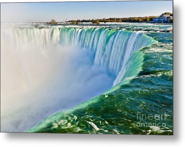 View From The Edge Of Niagara Falls Metal Print