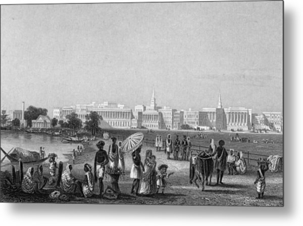 View Of Calcutta From The Esplanade Metal Print by Hulton Archive