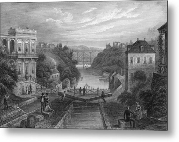 View Of Erie Canal Metal Print by Kean Collection
