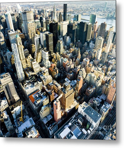 View Of Manhattan From The Empire State Metal Print