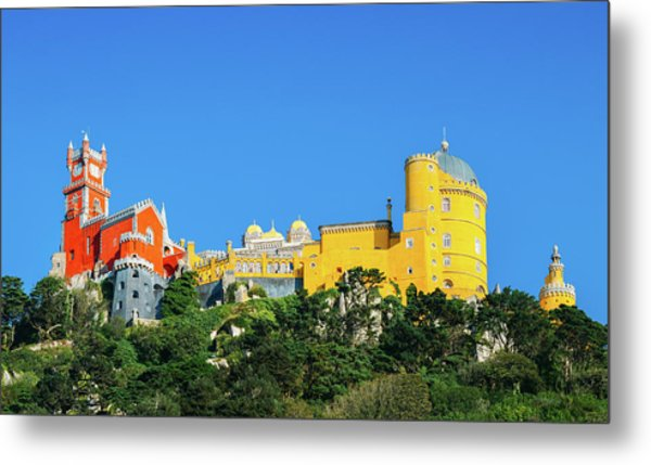 View Of Pena National Palace, Sintra, Portugal, Europe Metal Print
