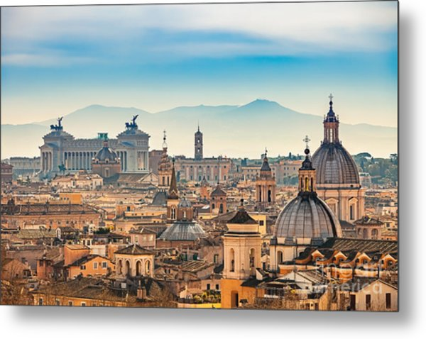 View Of Rome From Castel Santangelo Metal Print