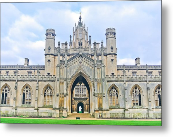 View Of St Johns College, University Of Metal Print by Javen