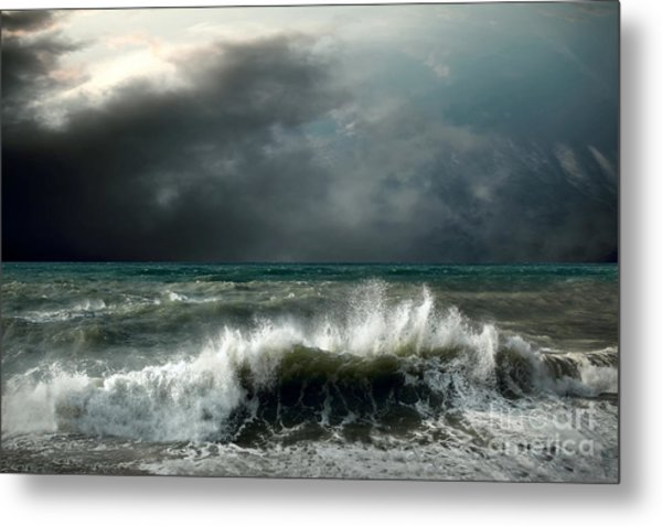 View Of Storm Seascape Metal Print