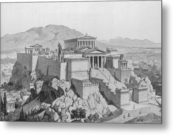 View Of The Acropolis Metal Print by Kean Collection