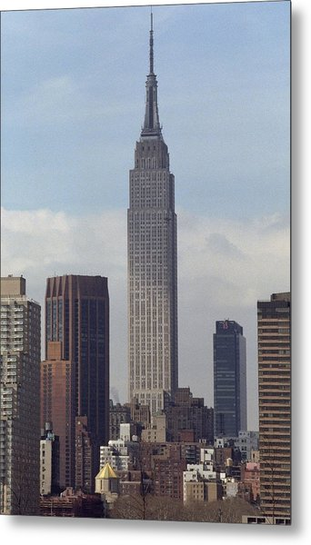 View Of The Empire State Building From Metal Print
