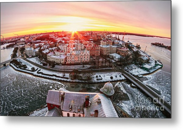 View Of The Historic City Of Vyborg Metal Print