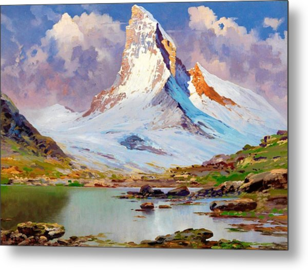 View Of The Matterhorn - Digital Remastered Edition Metal Print