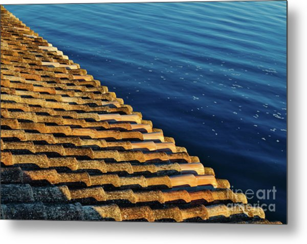 View Of The River From The Rooftop. Algarve Metal Print