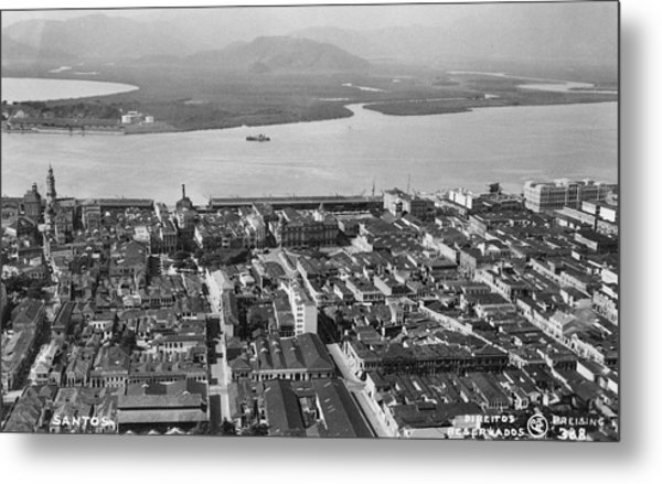 View Over Santos Metal Print by Hulton Archive