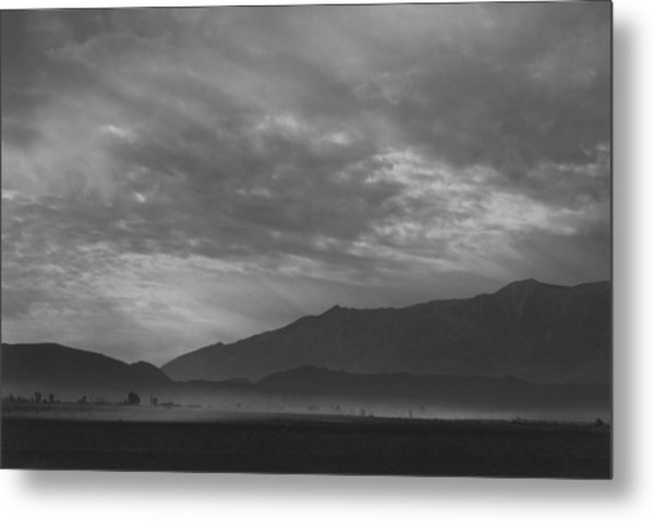 View Sw Over Manzanar, Dust Storm Metal Print by Buyenlarge