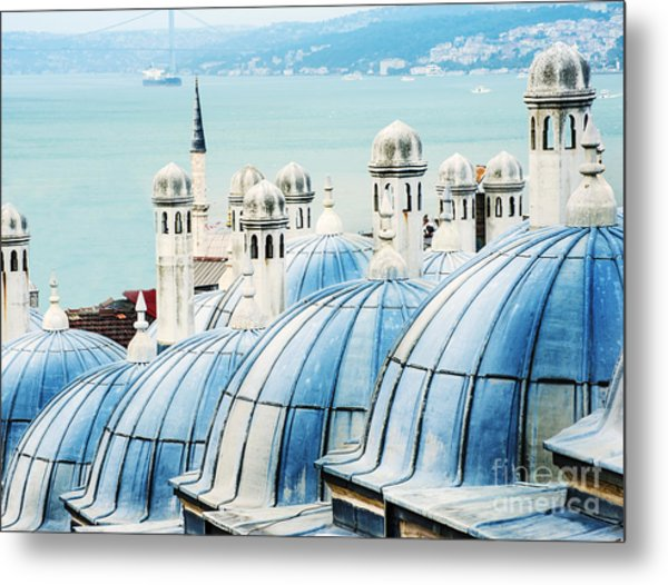 View To The Golden Horn, Istanbul Metal Print
