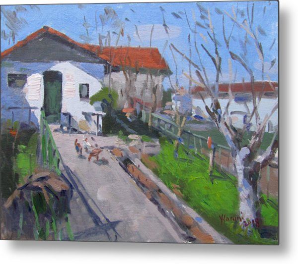 Village In Greece Metal Print