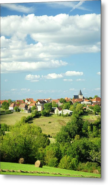 Village In The Dordogne, France Metal Print by Petegar
