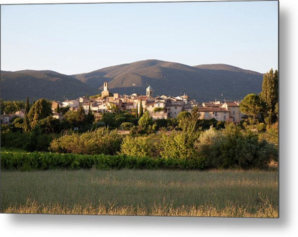 Village Of Lourmarin Metal Print by Photo And Co