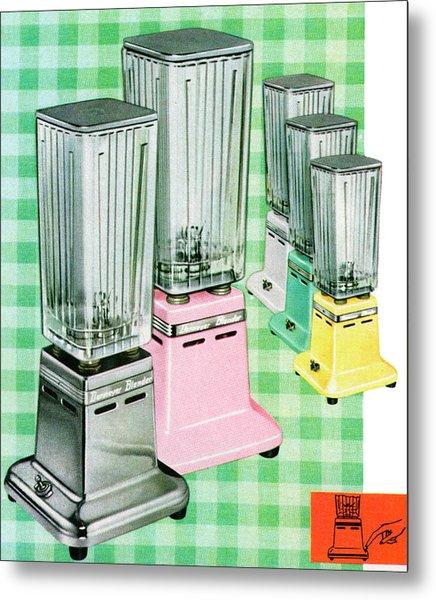 Vintage 1950s Kitchen Blenders Metal Print