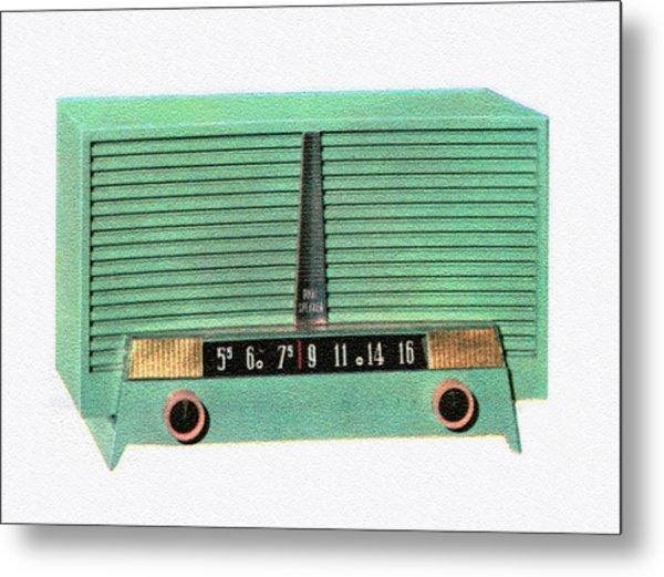 Vintage 1950s Portable Radio Metal Print